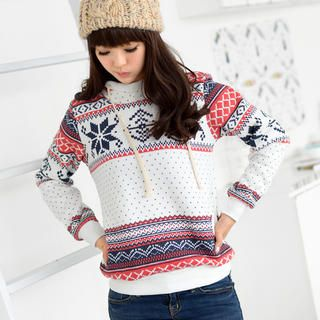 Nordic Pattern Hooded Pullover from #YesStyle <3 59 Seconds YesStyle.ca