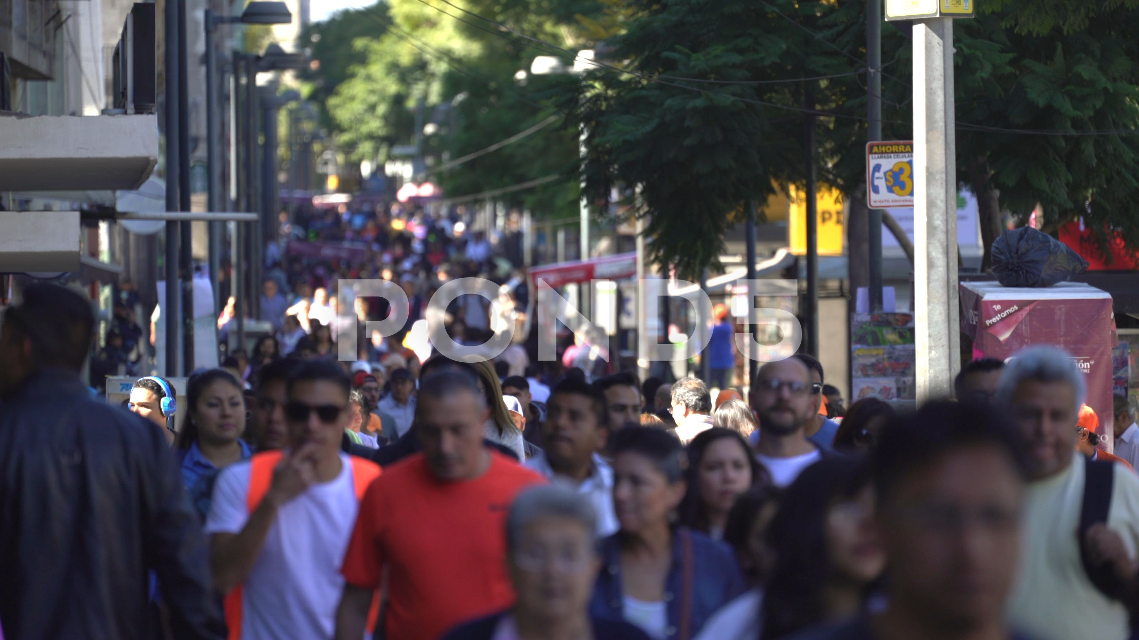 Mexico City Downtown Crowd Of People Walking Busy Street Scene Stock Footage Ad Crowd People Downtown Mexico Street Scenes Stock Footage Mexico City