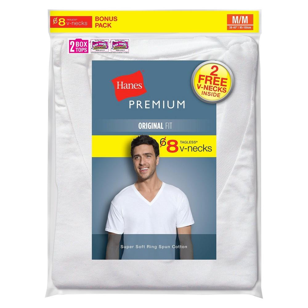 c2beeba6b426 Hanes Premium Men's 6+2 Bonus Pack V-Neck Tees - S, Size: Small ...