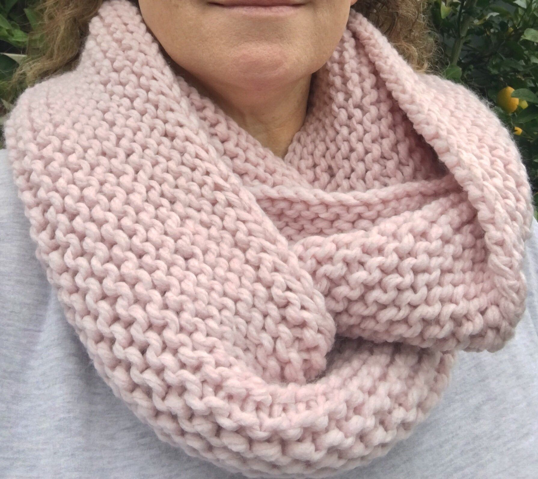 Pattern Knitted Infinity Scarf, Scarf Pattern Knit, Cowl
