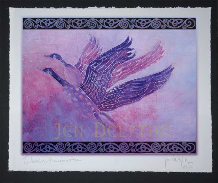 Wilde Geese Limited Edition Celtic Art Print by Welsh artist Jen Delyth - Celtic Art Studio