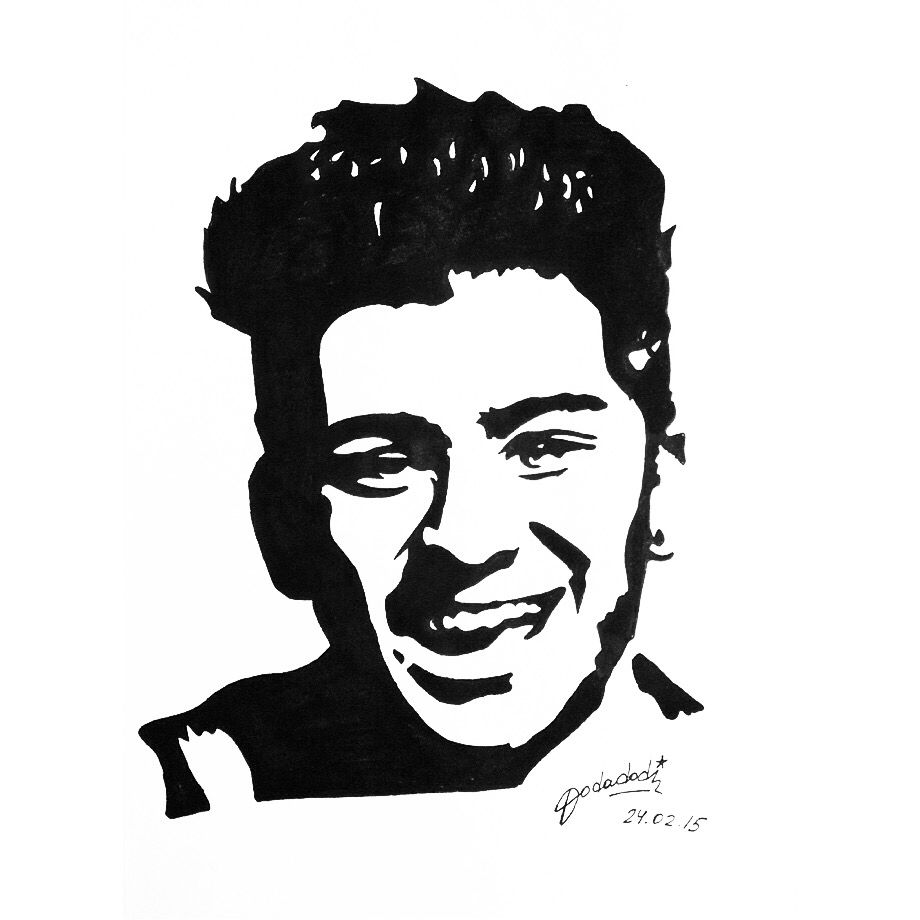 #ZaynMalik #OneDirection #1D #popart #art #artwork #draw #fanart #monochrome #dodadodi
