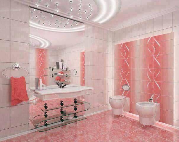 cuarto de baño color salmón en 2019   Cuarto de baño, Casa ...
