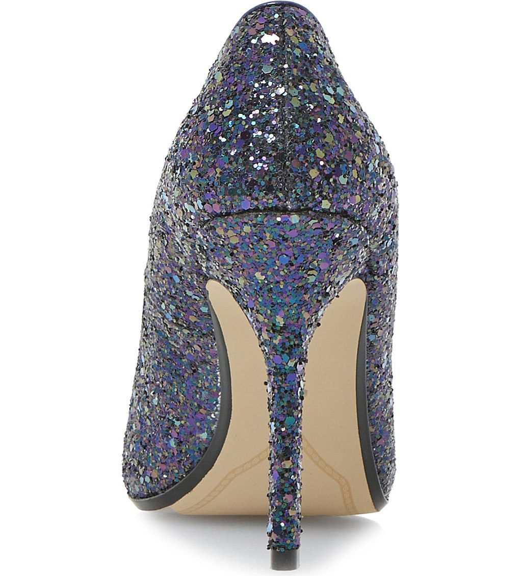bfa20309f2c DUNE Burst metallic pointed-toe court shoes (Petrol-glitter ...