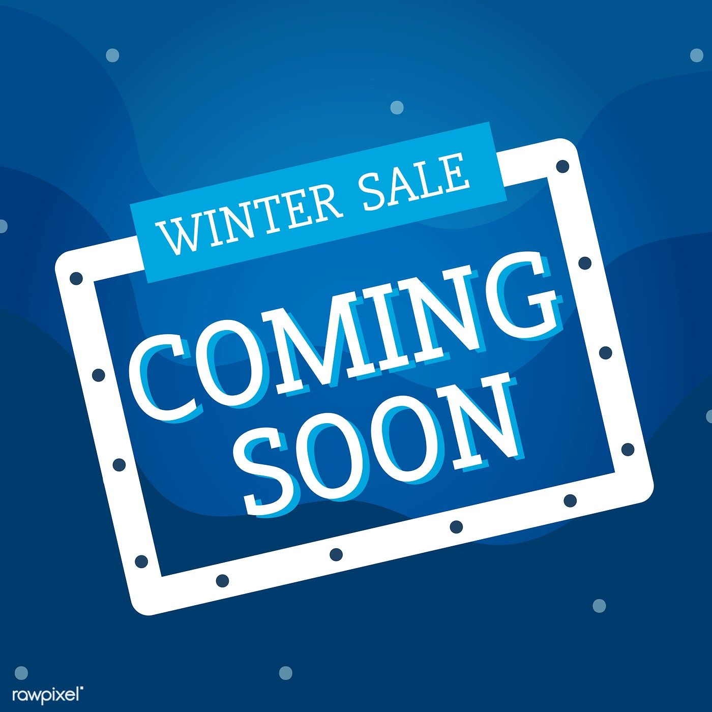 Winter sale coming soon vector free image by
