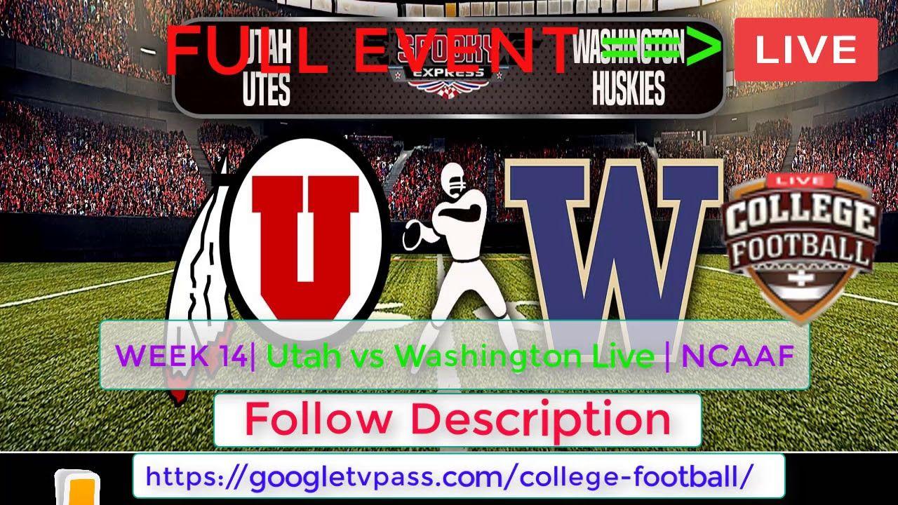 CBSNEWS!! Utah vs Washington Live Stream this is weekend