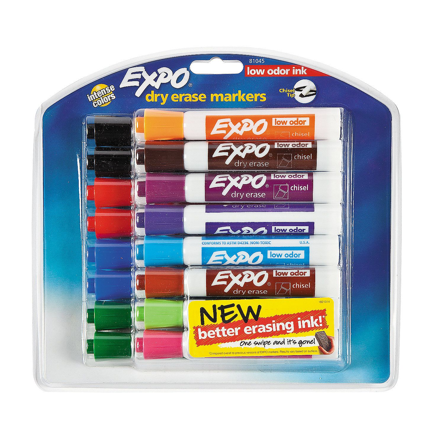 16 Color Expo Washable Low Odor Dry Erase Markers Dry Erase Markers Markers Oriental Trading