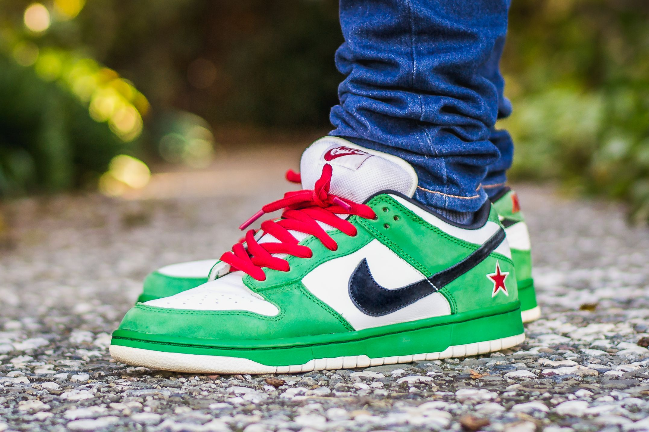 79a56792fce2 WDIWT - See my on foot video review of these Nike Dunk Low SB Heineken +  where to find em