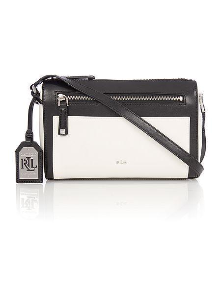 Lauren Ralph Lauren Neutral And Black Medium Cross Body Bag