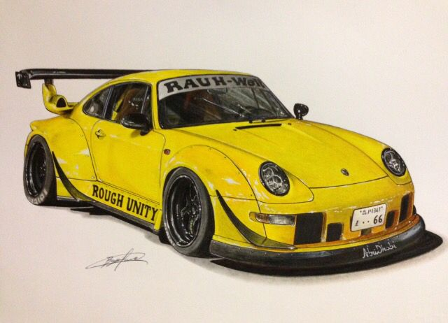 Porsche Rwb Drawing Supercar By Filo Pinterest Porsche