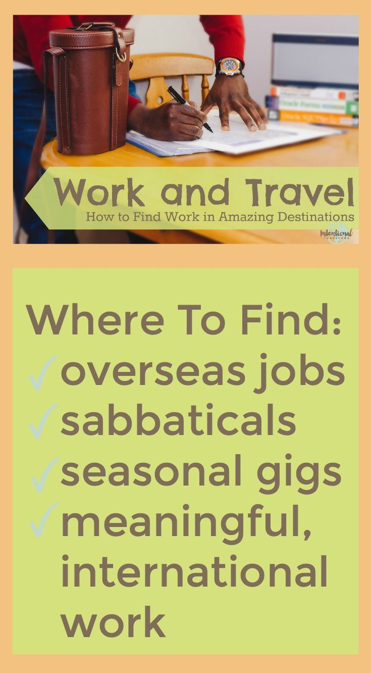 Work abroad: a selection of sites