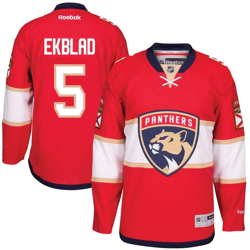 free shipping c285e 0ceac Aaron Ekblad Florida Panthers Reebok Home Premier Player ...