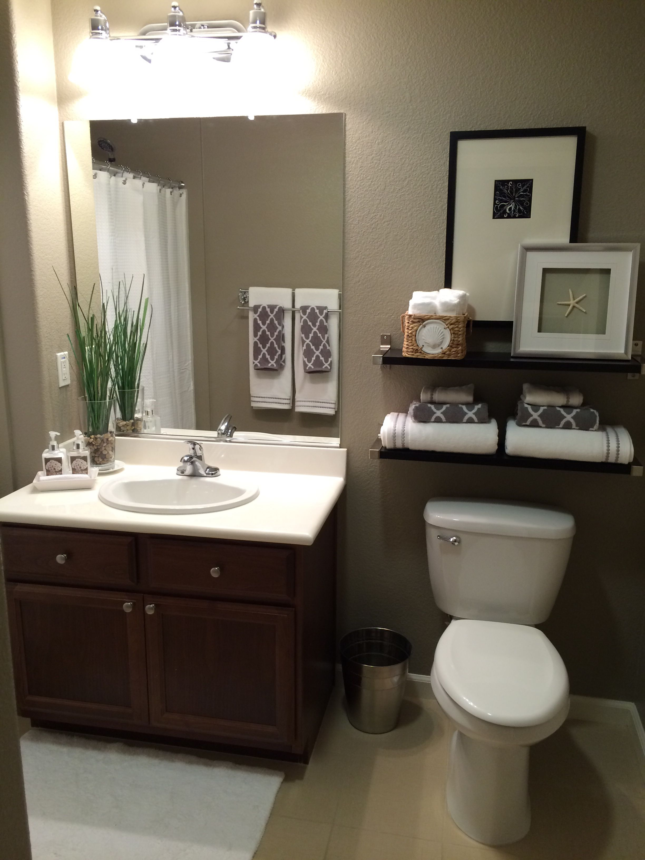 Guest Bath Paint Color Is Taupe Tone By Sherwin Williams Guest Bathroom Decor Small Bathroom Ideas On A Budget Modern Bathroom Decor