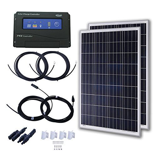 Komaes 300 Watts 12 Volts Polycrystalline Solar Starter Kit You Can Find More Details By Visiting The Im Solar Panel Kits Solar Panels For Home Amazon Sale