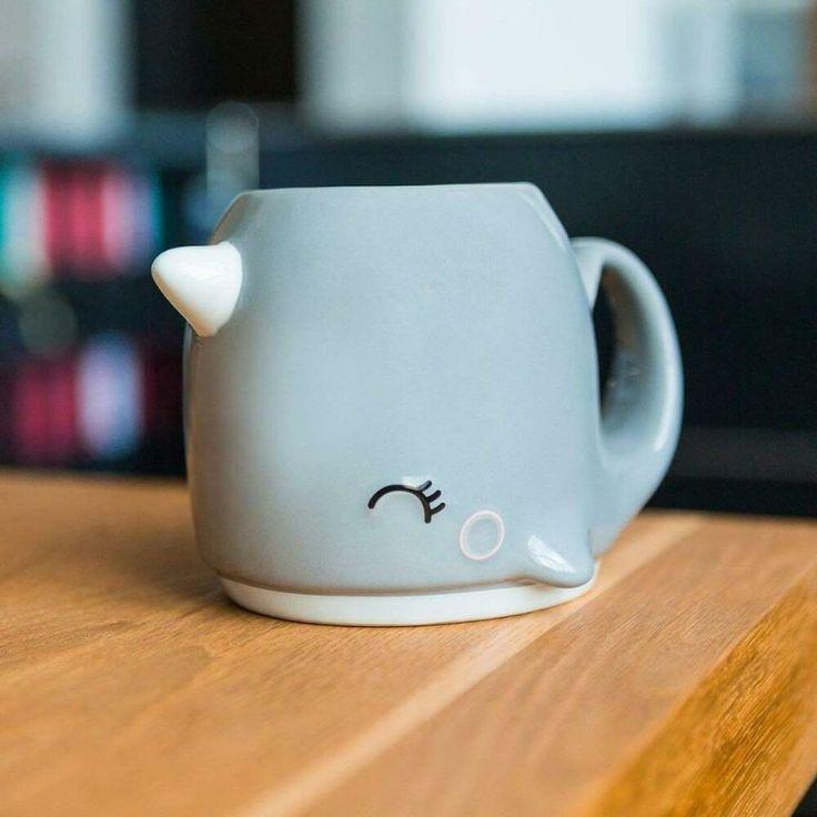Smoko Nari Narwhal Grey Coffee Mug 20 oz NIB Unicorn of the Sea | eBay