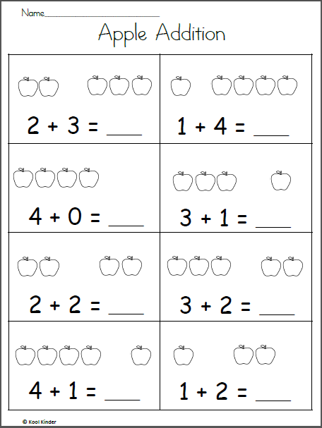 Free Fall Math Worksheet For Kindergarten Apple Addition Made By Teachers Kindergarten Addition Worksheets Addition Worksheets English Worksheets For Kindergarten