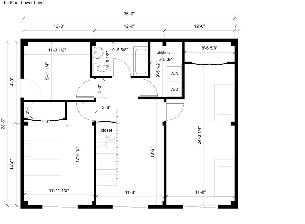 First Ground Floor Plan For 28 X 36 Timber Frame Island Vacation Home Vacation Home Island Vacation Floor Plans
