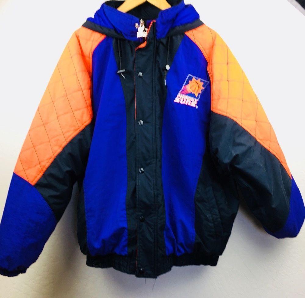 Nba Phoenix Suns Vintage Starter Jacket 2000s 90s Puffer Coat Hooded Vtg Xxl Ebay Link Sport Outfits Clothes Fan Apparel