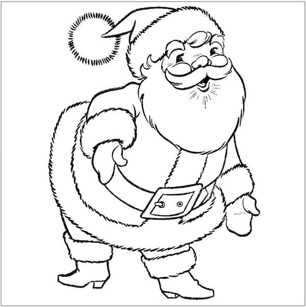 Kids Coloring Pages Santa