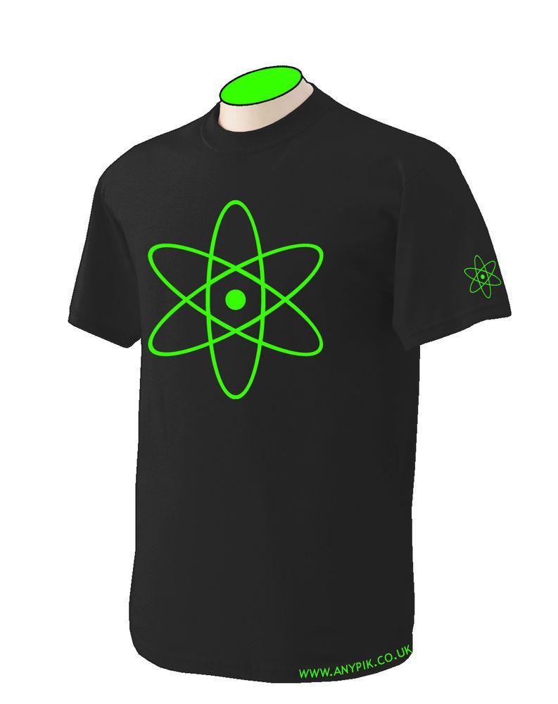 Shirt design and colour - New Atom Design T Shirt 100 Cotton Science Proton Nucleus Uv Colour Black