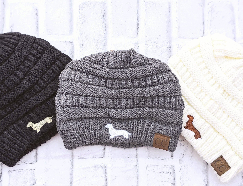 Download Dachshund Beanie Dachshund Winter Hat Dachshund Christmas Etsy Winter Hats Beanie Cream Beanies