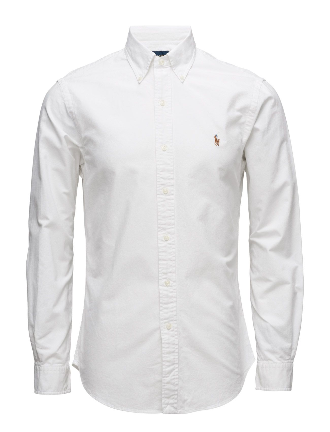 polo ralph lauren slim fit cotton oxford shirt - shirts white men tops  casual,polo