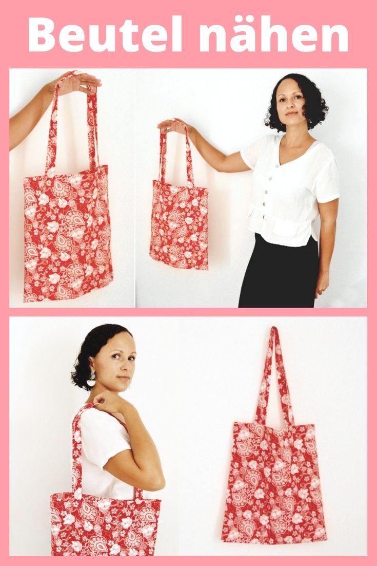 Coser bolsas de tela para principiantes / bolsa de compras de bricolaje, instrucciones de costura de bolsas de yute |  MODA DIY  – Bolsa