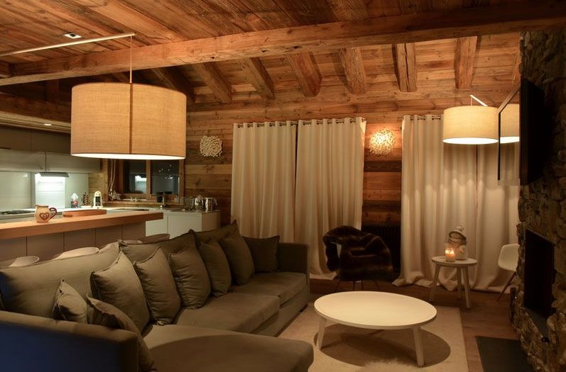 deco int rieur chalet moderne maison bois pinterest chalet moderne chalet et interieur chalet. Black Bedroom Furniture Sets. Home Design Ideas