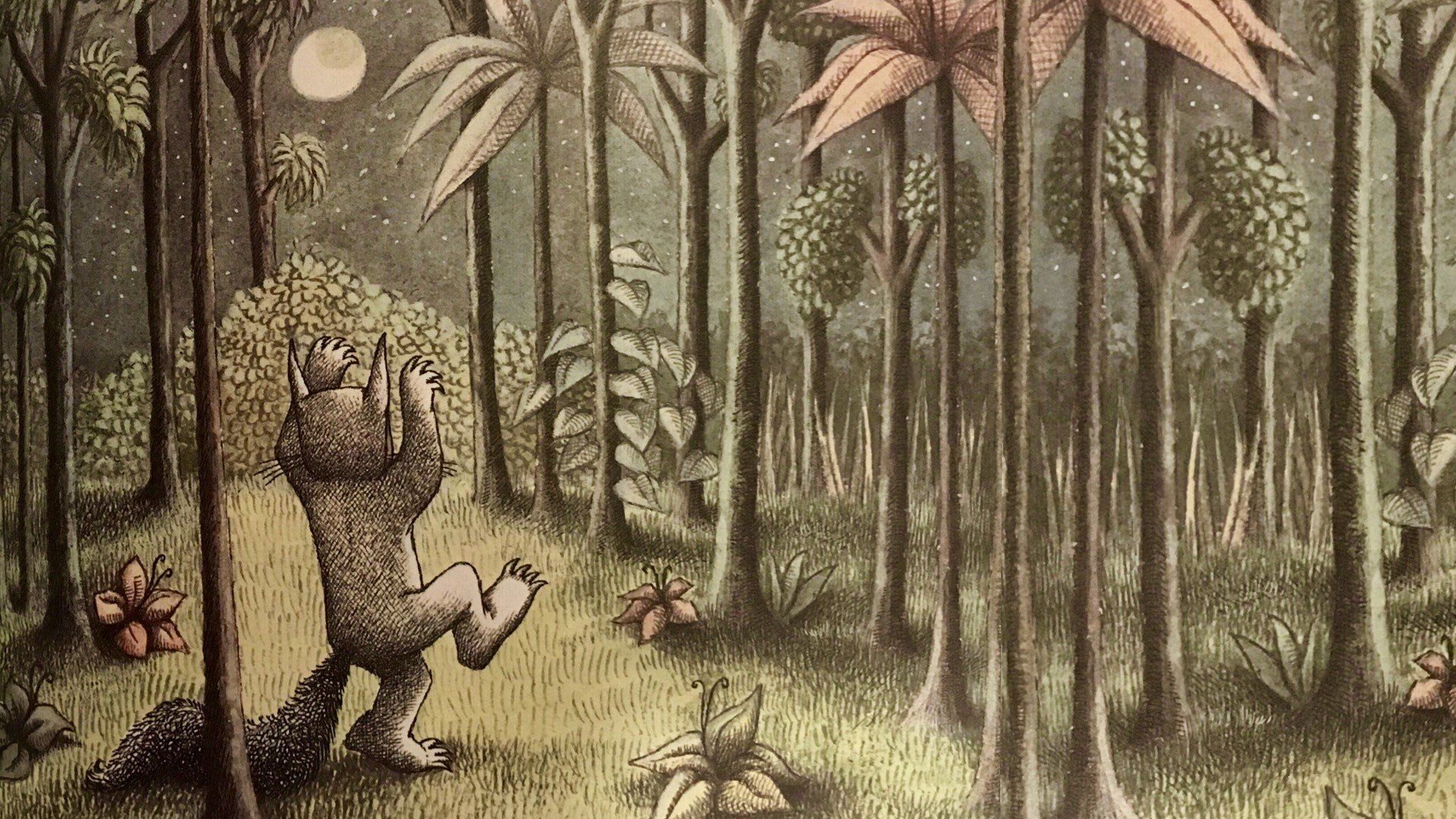 Maurice Sendak, Where the Wild Things Are, Night, Forest