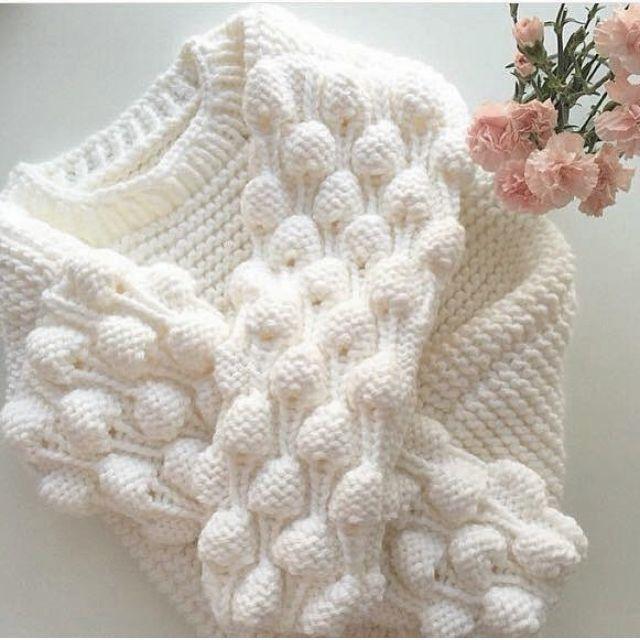 узор малинка спицами свитер