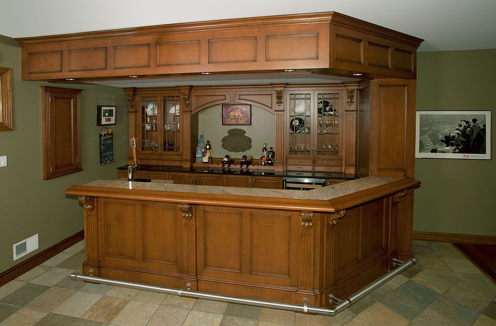 Home Bars | Irish Pub Home Bar | Custom Cabinetry By Ken Leech