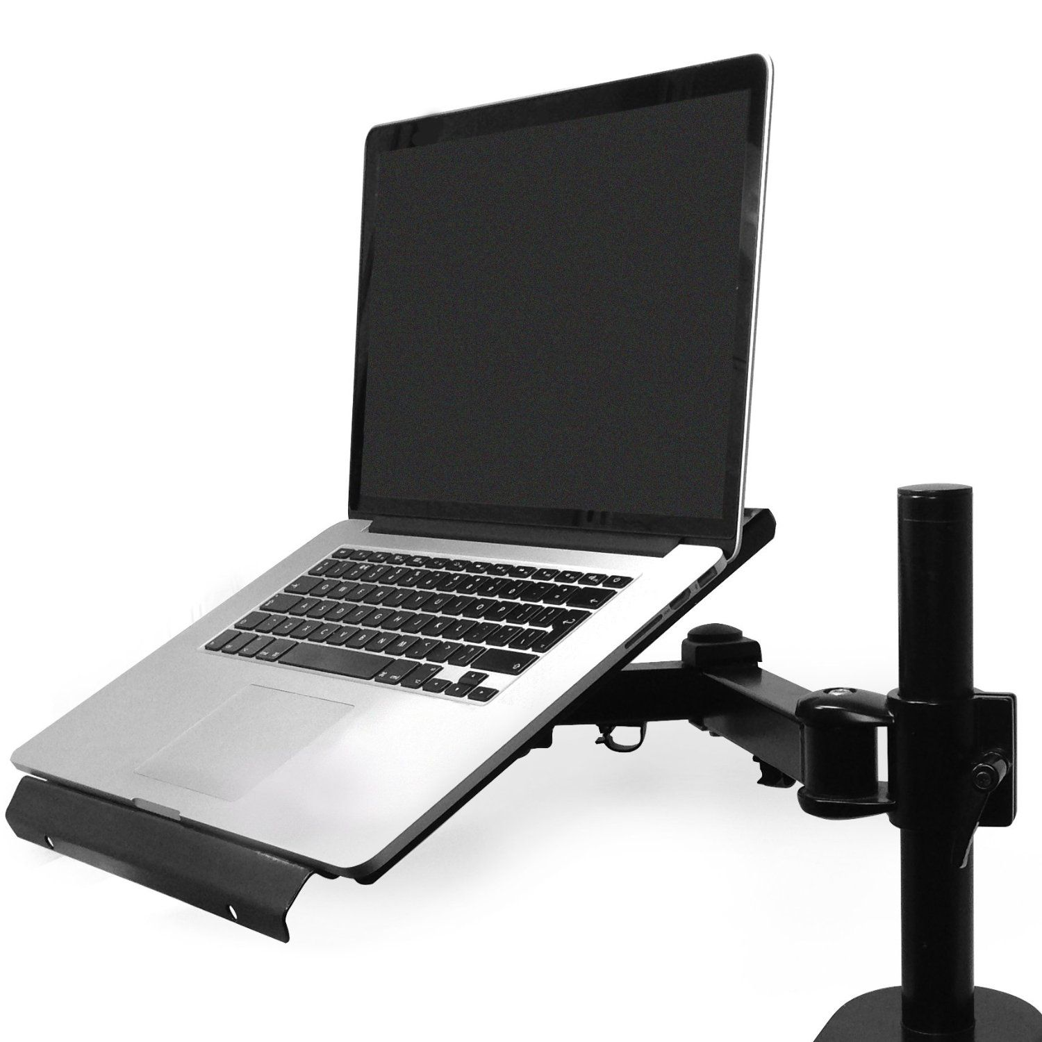 brute hq dj laptop stand desk mount notebook mac book adjustable pro mount. Black Bedroom Furniture Sets. Home Design Ideas
