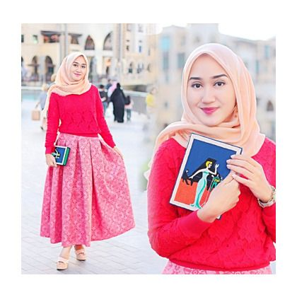Padu Padan Rok Warna Pink Penelusuran Google Baju Muslim