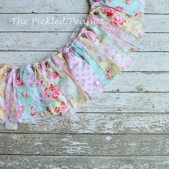 Vintage Shabby Chic Banner Shabby Chic Bunting by ThePickledPeanut
