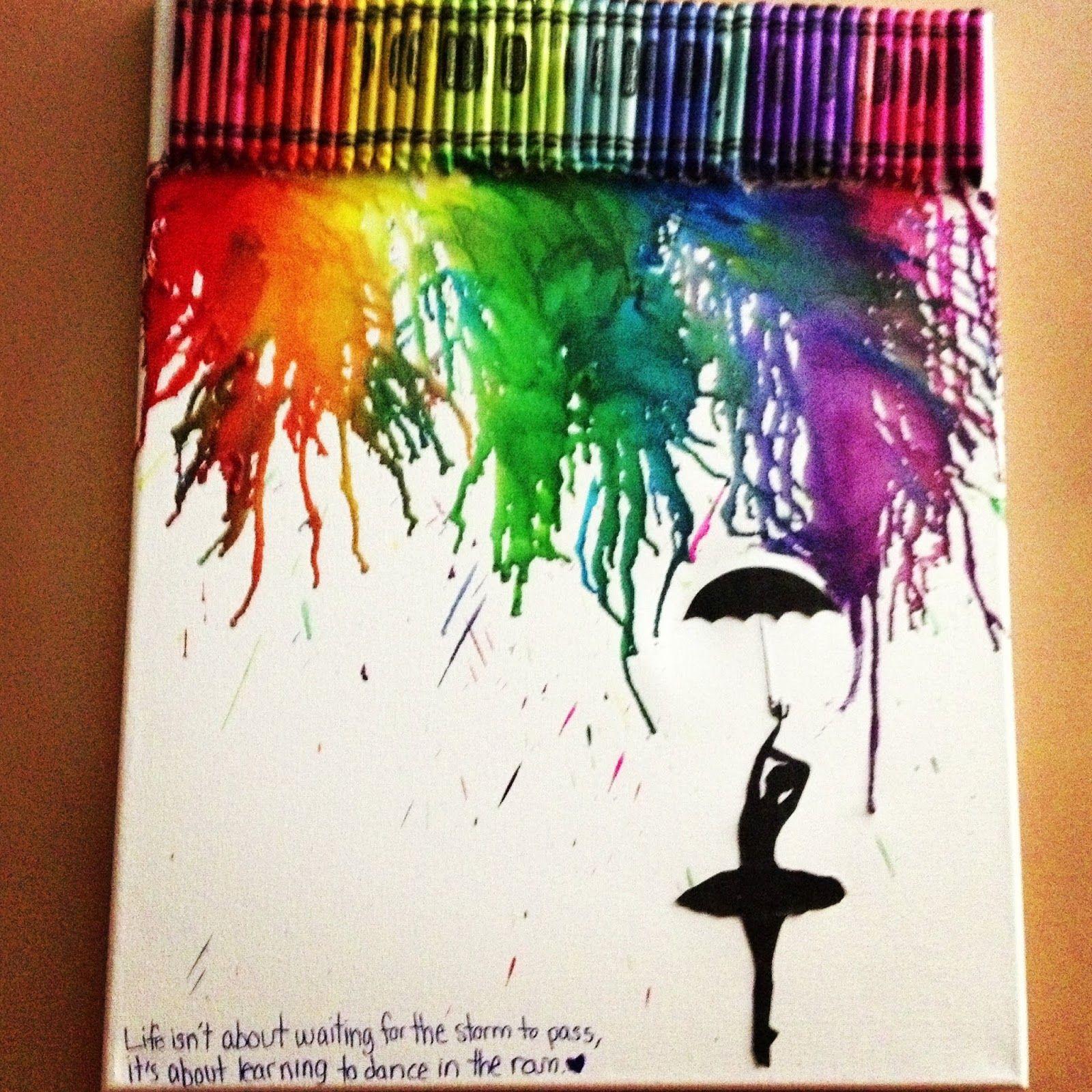 Como hacer un cuadro con crayones derretidos. | Derretir crayones ...