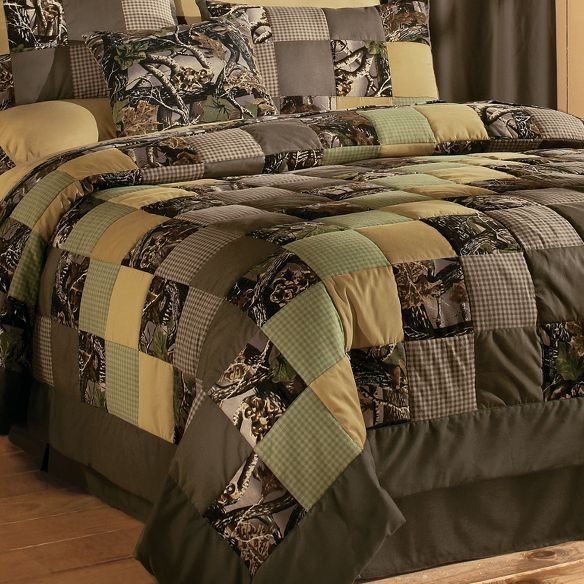 White River Camo Patchwork Quilt Set Home Decor Home