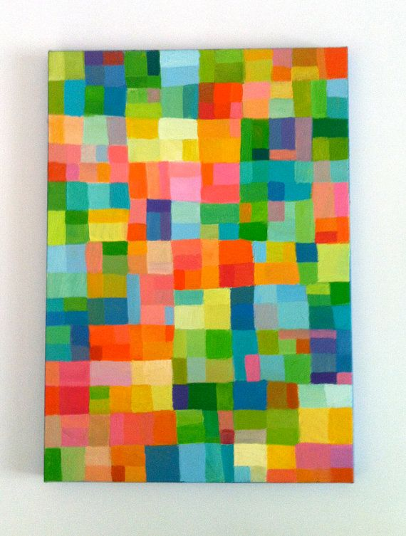 Abstract Painting Original Painting Geometric Shapes
