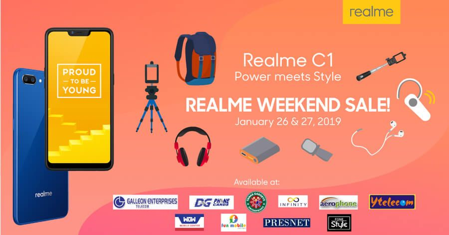 Get exciting freebies when you purchase the Realme C1 this