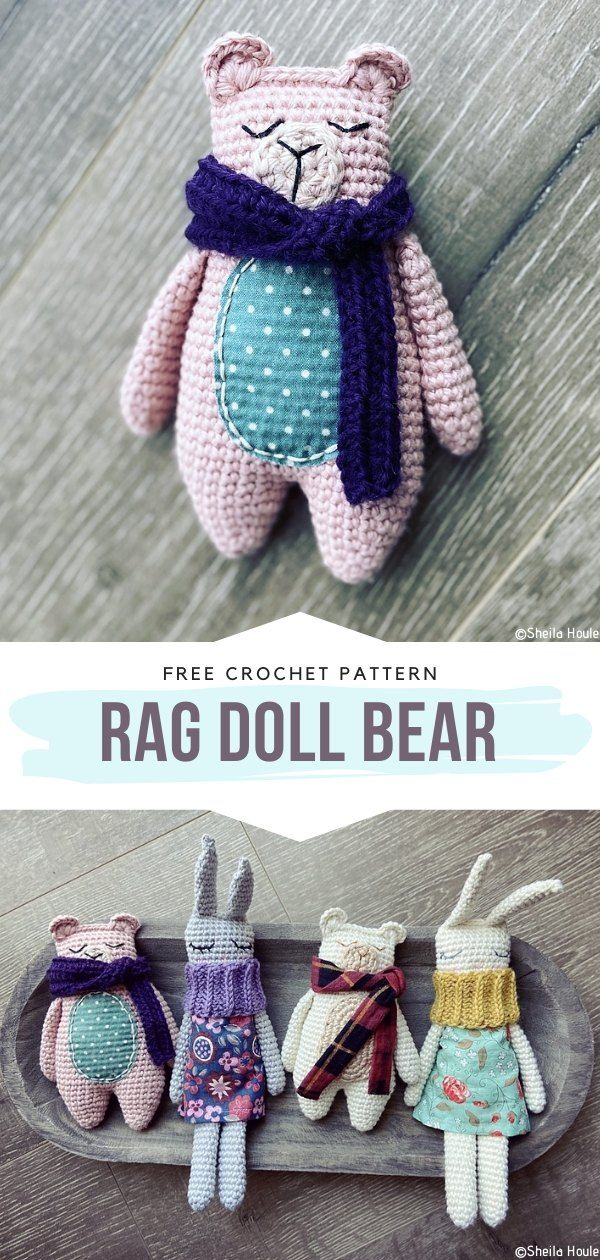 How to Crochet Rag Doll Bear