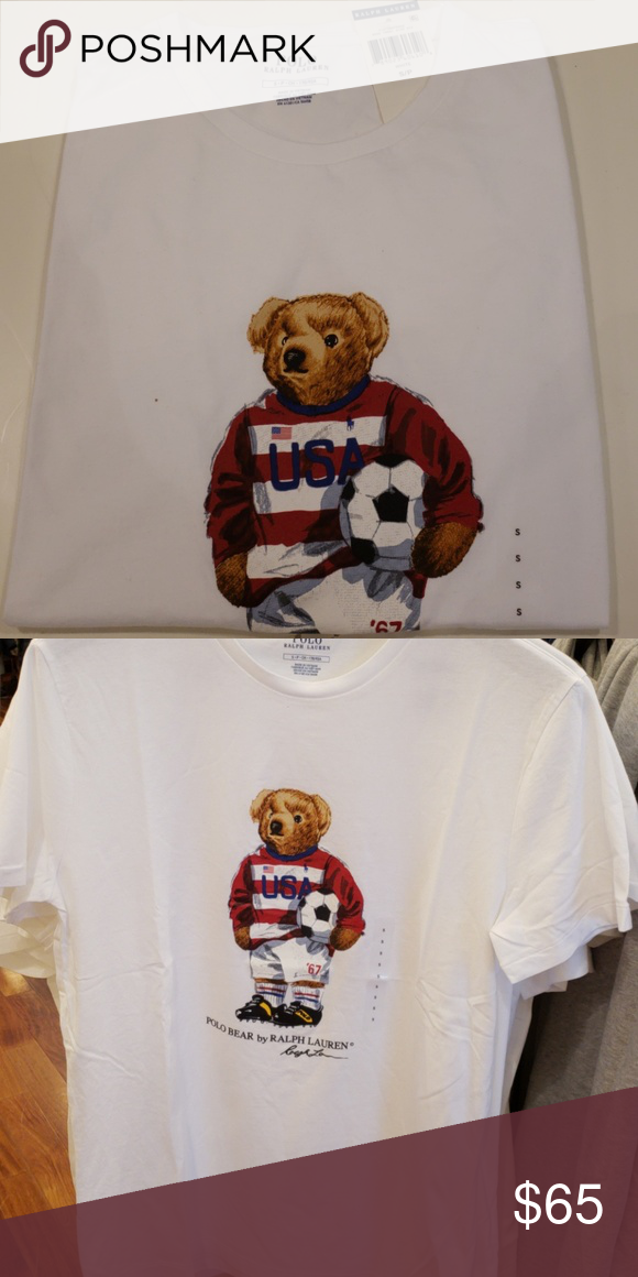 1b40269c7daddc Limited edition polo bear t-shirt Mens white usa polo bear soccer t - shirt  Polo by Ralph Lauren Shirts Tees - Short Sleeve