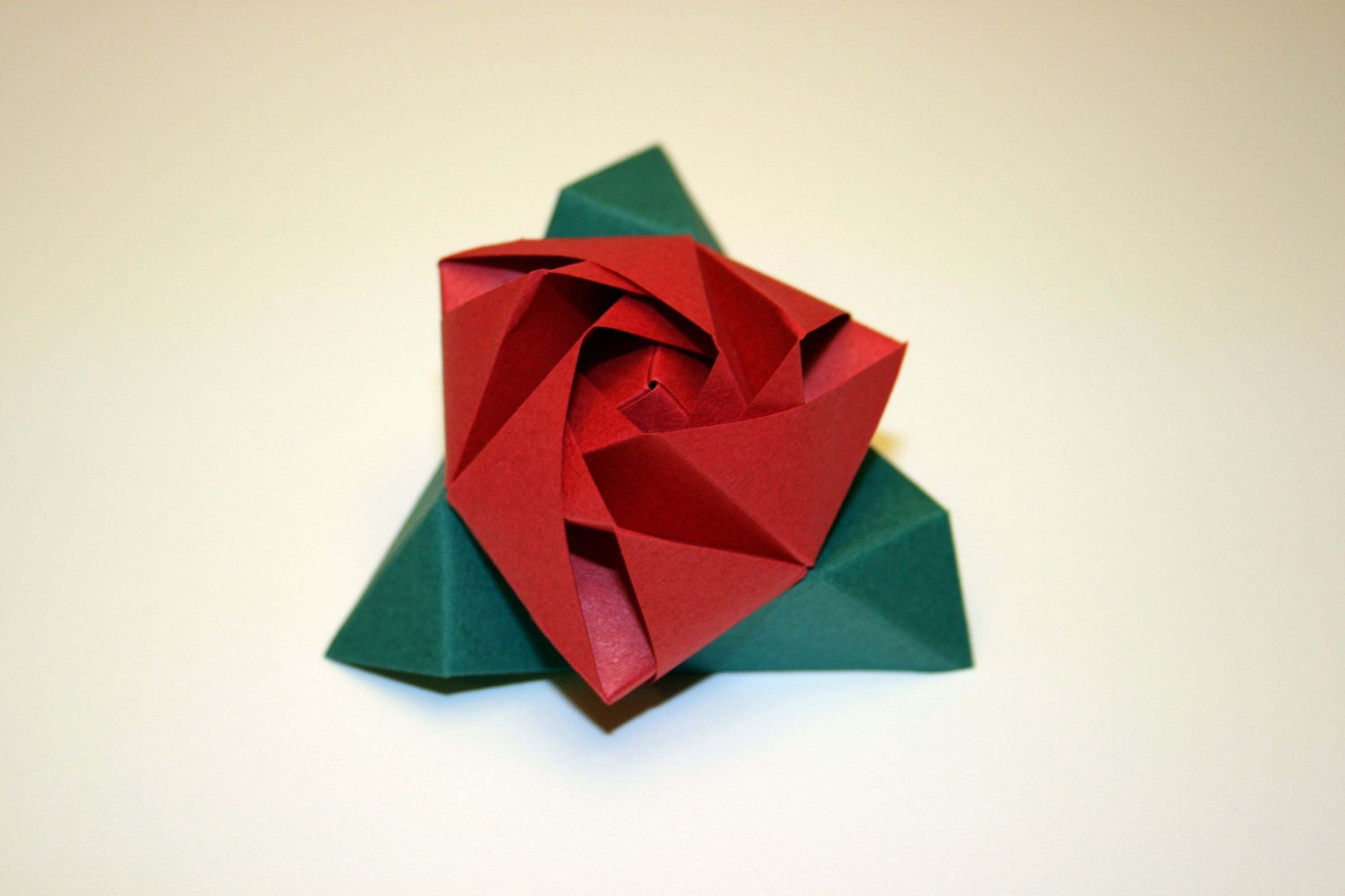 Make an Easy Origami Rose   2000x3000