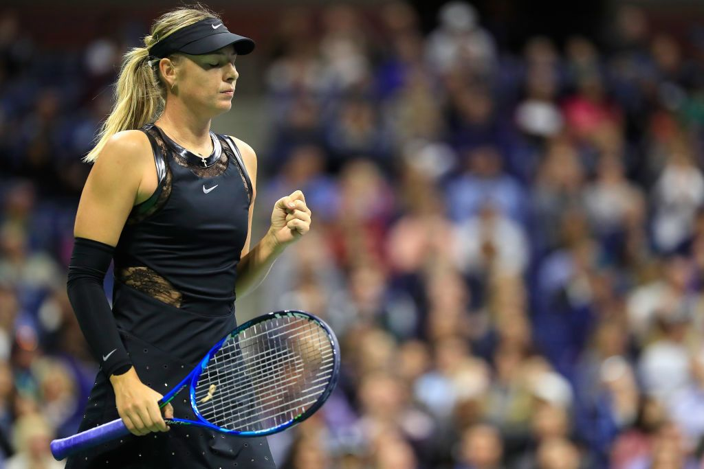 Maria Sharapova Of Russia Reacts Against Sofia Kenin Of The United Maria Sharapova Maria Sharapova Photos Tennis