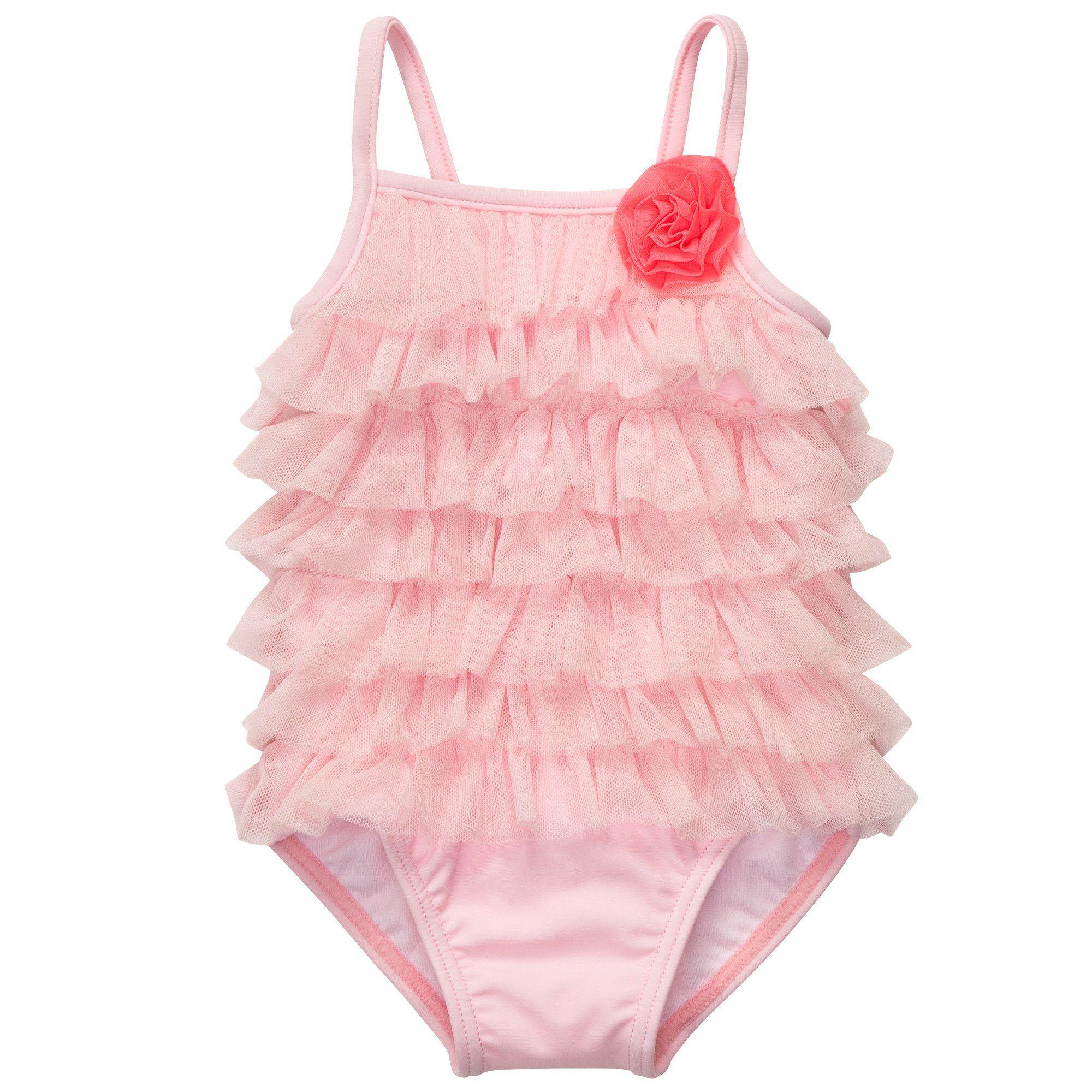 1 Piece Ruffle Swimsuit Baby Girl Swimwear