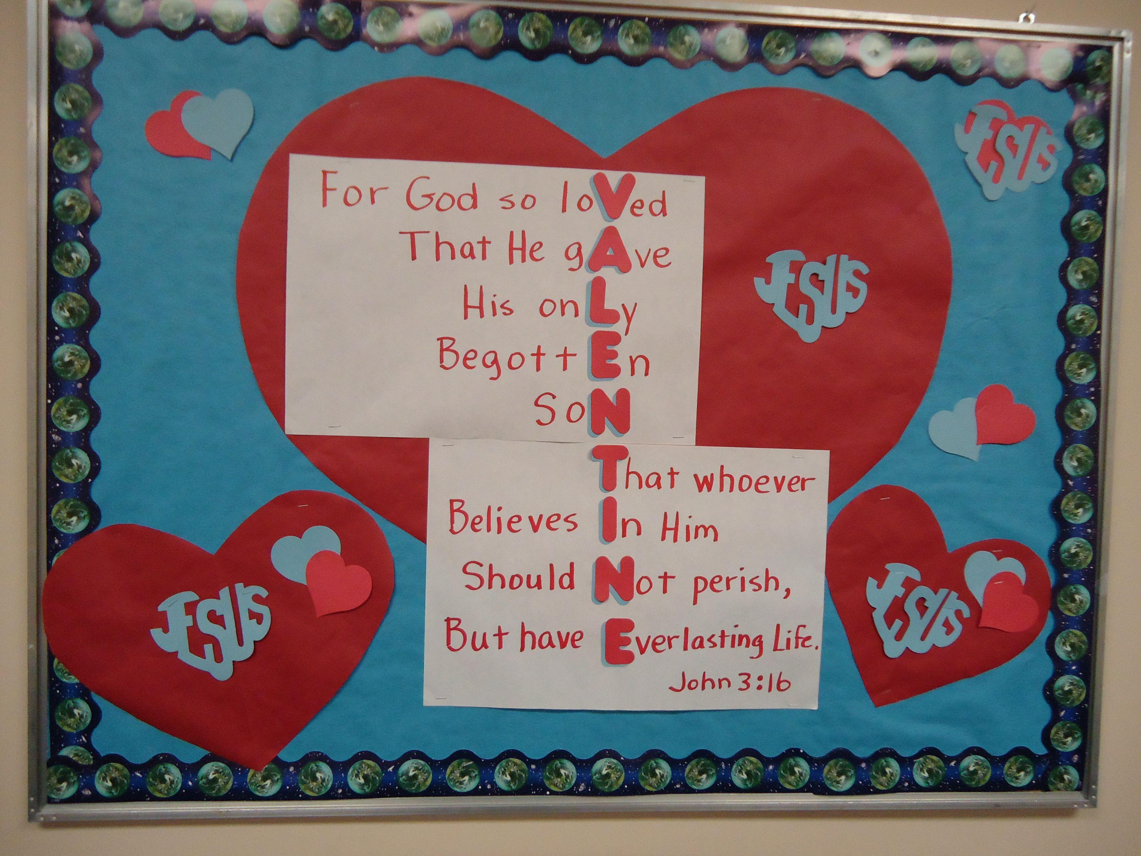 Valentine Board John 3 16