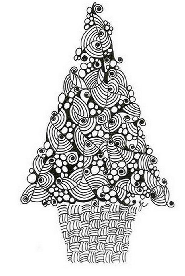 21 Christmas Printable Coloring Pages Everythingetsy Com Christmas Tree Coloring Page Tree Coloring Page Christmas Tree Zentangle