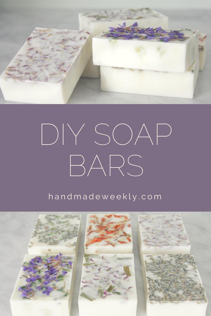 DIY Floral Soap Bars - Handmade Weekly DIY Floral Soap Bars #diysoap