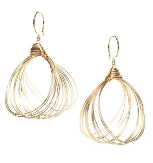 Large Hoop Earrings by Nashelle. 14k gold filled over sterling silver.