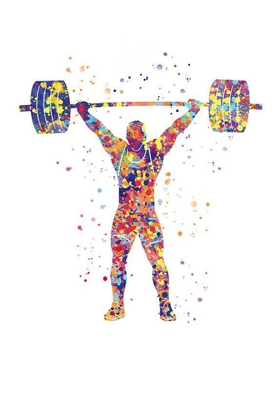 Halterophile Art Musculation Poster Idee Cadeau Halteres