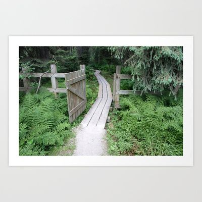little gate to the big forest Art Print by Marianna Tankelevich - $17.68