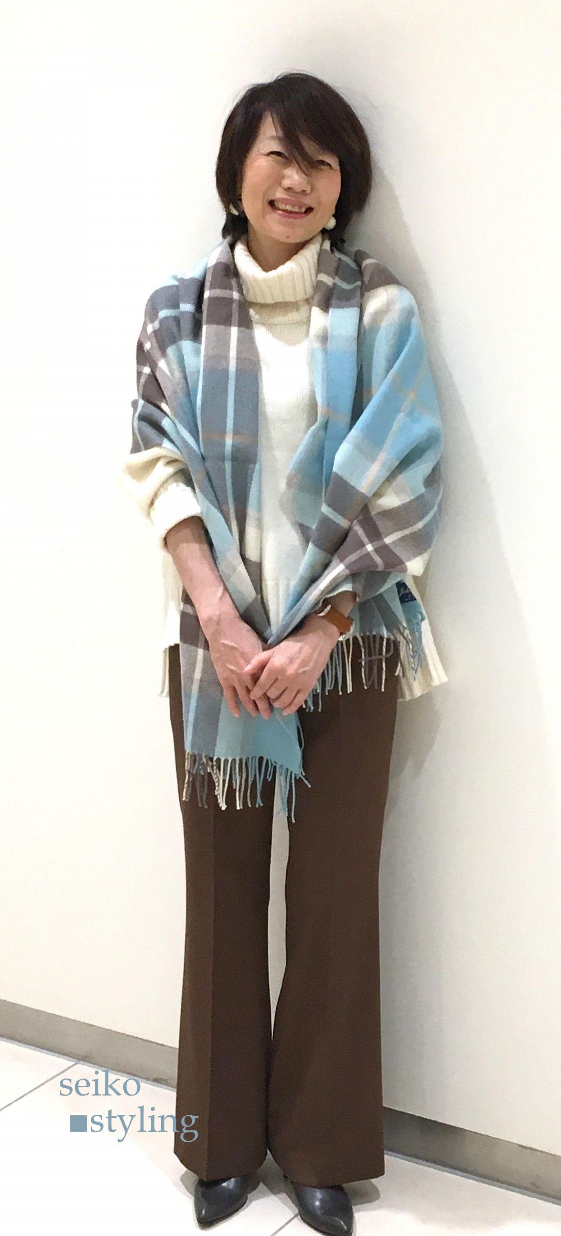 50代 ファッション 骨格タイプナチュラル パーソナルカラー サマー スタイリング事例 50代 ファッション ファッション 春 ファッション 50代